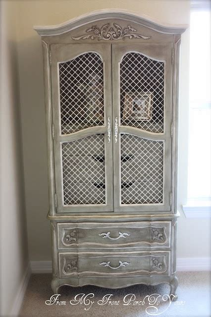 white chalk paint armoire from my front porch to yours armoire painted in annie