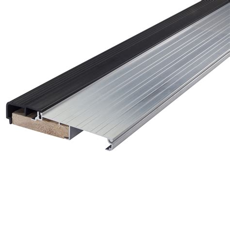 Hardwood Door Thresholds Exterior Shop M D 1 125 In X 36 In Aluminum And Wood Door Threshold At Lowes