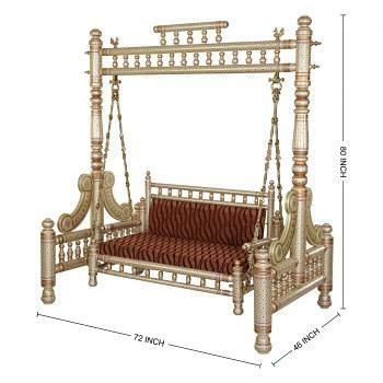 jhoola swing handcrafted wood indoor swing jhoola maharaja jhoola
