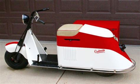 1947 Cushman 50 Series Step Thru Scooter With Sidecar