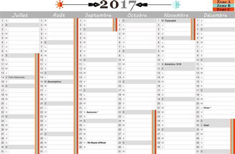 Calendrier Avec Vacances Scolaires 2017 Calendrier 2017 Avec Vacances Scolaires