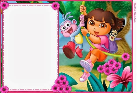 printable invitations dora the explorer dora the explorer free printable invitations boxes and