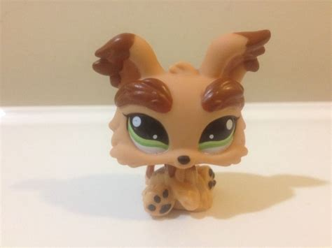 littlest pet shop yorkie lps littlest pet shop yorkie 1016 puppy brown terrier ebay