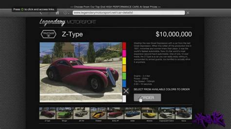 Car Types From A To Z by Gta 5 Cars Quot Z Type Quot Most Expensive Car