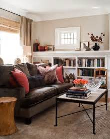 brown sofa living room sofa in front of window design ideas