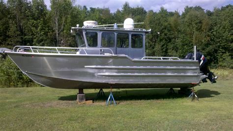 enclosed aluminum fishing boat 2007 29ft pacific skiff barely used bloodydecks
