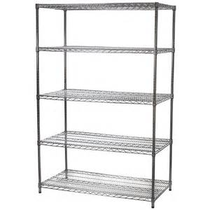 wire shelving unit with five shelves 24 quot d x 48 quot w