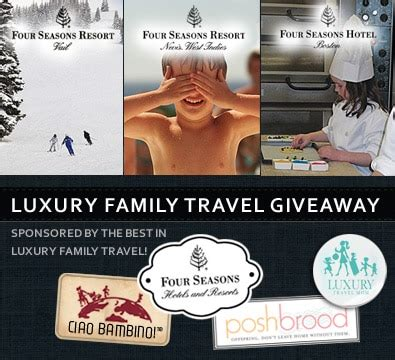Family Vacation Giveaways - four seasons luxury family travel giveaway update