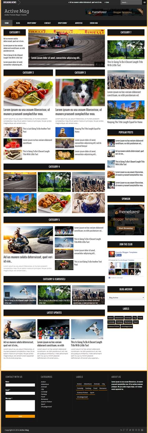 themes blogger premium active mag blogger template blogger templates 2018