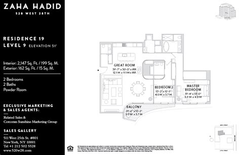 Master Bedroom And Bathroom Floor Plans listings launch for zaha hadid s high line condos 6sqft