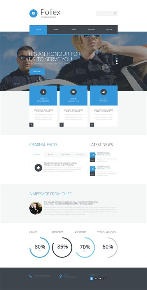 Templates For Police Website | police website template