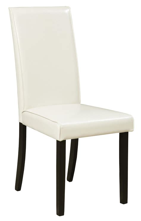 Upholstered Dining Side Chairs Signature Design Kimonte D250 01 Dining Upholstered Side Chair Ivory Dunk Bright