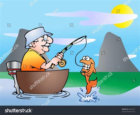 cartoon man in boat fishing old man fishing cartoon gallery