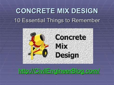 design photo mix concrete mix design instruction