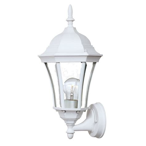 White Outdoor Wall Lights Shop Acclaim Lighting Brynmawr 15 5 In H Textured White Outdoor Wall Light At Lowes