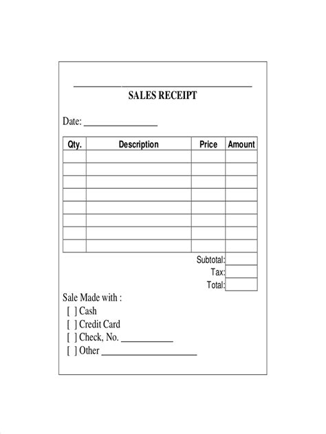 printable sales receipts template 32 receipt exles sles pdf word pages