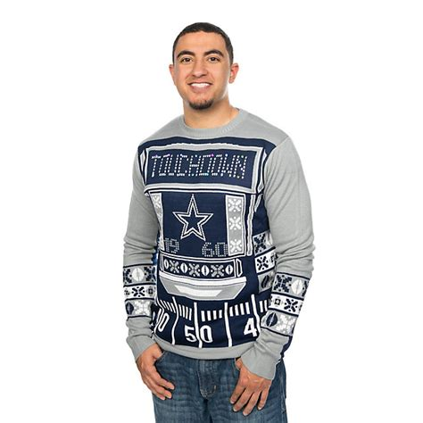 Dallas Cowboys Mens Light Up Crew Neck Sweater