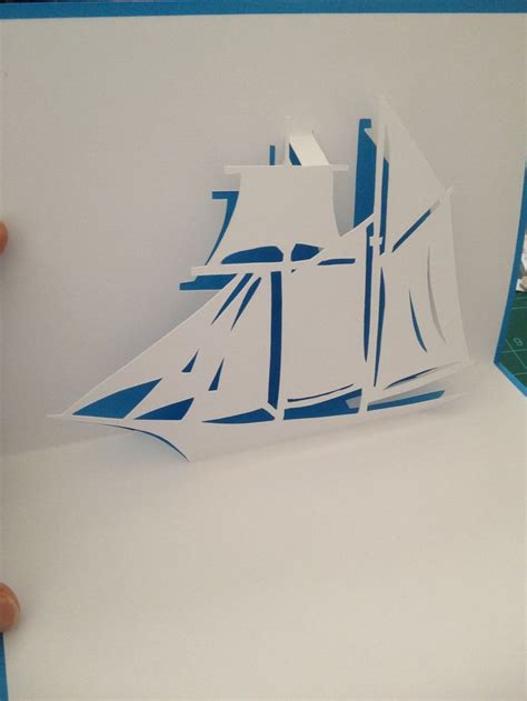 card template pop up sailing ship pop up card template from quot cahier de
