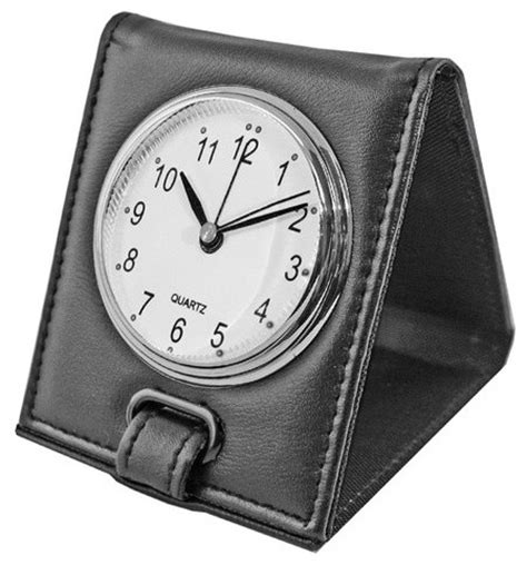 folding alarm clock black contemporary alarm clocks by natico