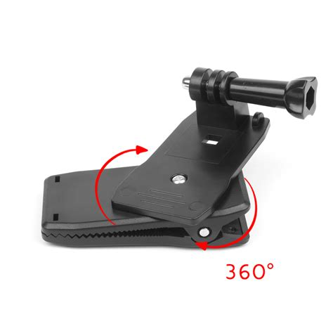 With Rotary Clip For Gopro 5 3 360 degree rotary hat belt backpack clip cl mount for gopro 5 3 4 session sjcam sj4000