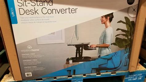costco sit stand desk costco ergotron sit stand desk converter 199 youtube