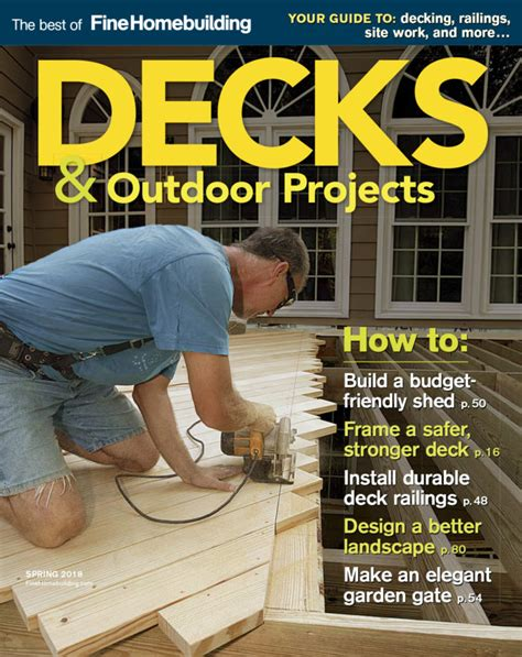 fine homebuilding 04 decks outdoor projects fine homebuilding