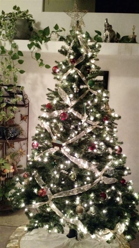 Ribbon Silver N Gold Pita Natal diy crisscross ribbon on your tree for this