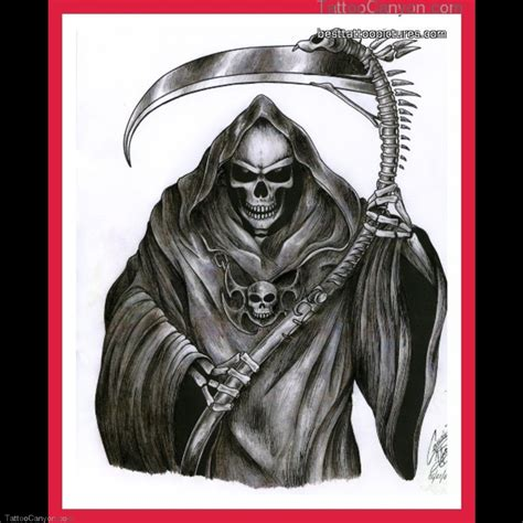 tattoo reaper designs grim reaper images designs