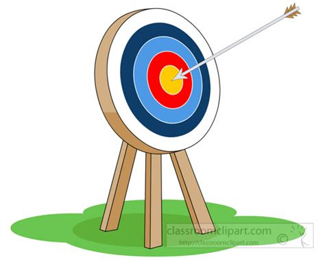 Archery Clipart Free archery clipart target archery with arrow in the middle 6223 classroom clipart