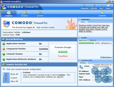 best free antivirus with firewall best free firewall for computer security comodo firewall