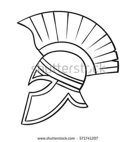 Soldier Helmet Outline by Soldiers Helmet Icon Style Stock Illustration 569786995