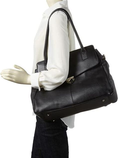 Ck Pushlock Wallet banana republic ella pushlock leather tote in black lyst