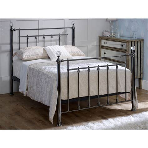 Libra Metal Bed Frame Next Day Delivery Libra Metal Bed Frame From Worldstores Libra Black Chrome Bed Frame With Crystals Metal Bed Frame Fads