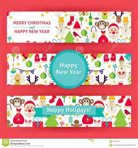 new year promotion banner happy new year vector template banners set modern flat