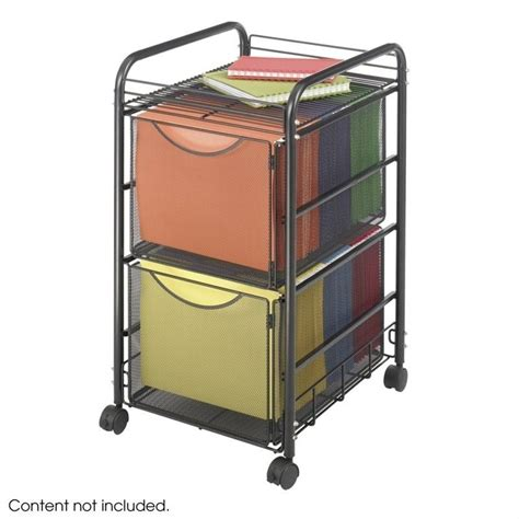 Mesh File Cart with 2 File Drawers   5212BL
