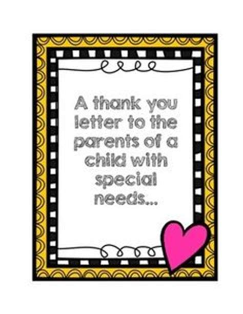 Sle Thank You Letter To Special Needs 1000 Images About Classroom Management On Special Education Lesson Plan Templates
