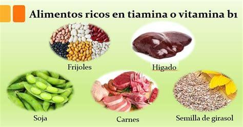 alimentos que contienen vitaminas b12 alimentos ricos en tiamina o vitamina b1 importancia y