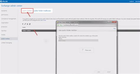 Office 365 Mail Enabled Folder Creating Folder In Exchange Office 365