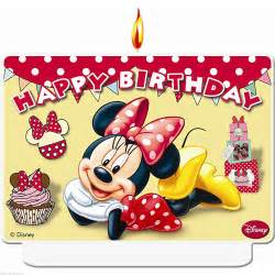 happy birthday disney minnie mouse red cafe party moulded cake candle