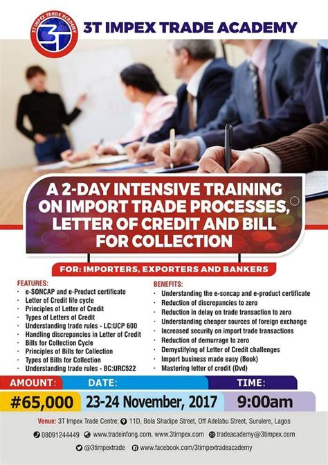 Import Finance Letter Of Credit Events 3timpex