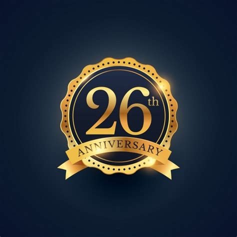 26th anniversary, golden edition Vector   Free Download
