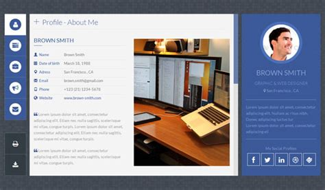 personal profile design templates 50 best personal website templates free premium