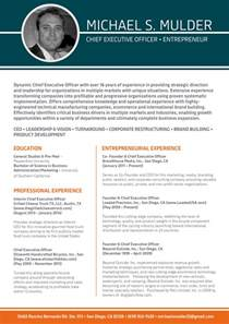 Beneficial Ceo Resume Template Best Resume Format