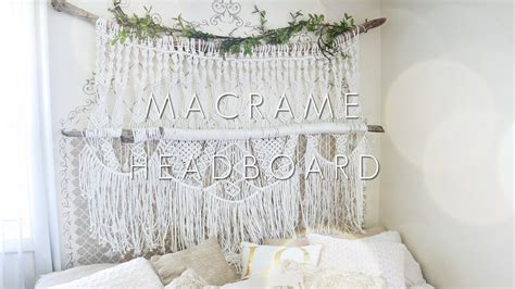 macrame headboard how to diy macrame headboard youtube