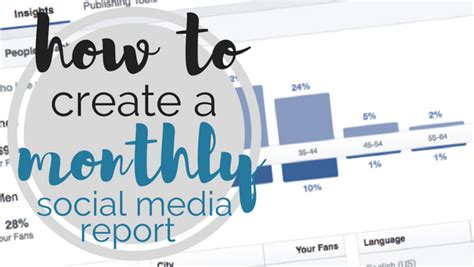 social media monthly report template template how to create a monthly social media report