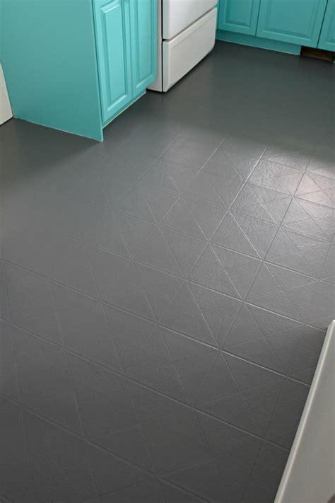 paint  vinyl floor diy flooring painted vinyl