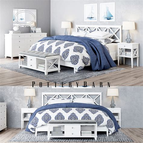 pottery barn bedroom sets pottery barn clara lattice white bedroom set