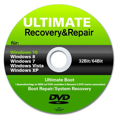 32bit 64bit Kaset Dvd Windows 10 All In One 32bit 64bit Selalu Ready recovery repair cd dvd f 252 r windows 10 7 8 vista xp 32
