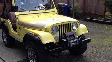 jeep cj renegade levi edition amc    manual
