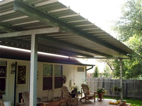 patio cover free standing deck all galvanized